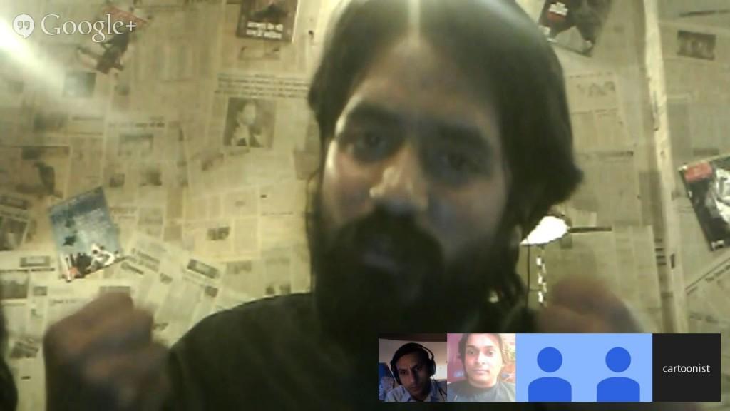 Cartoonist Aseem Trivedi during #Unfreedom Debate