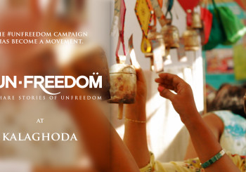 Unfreedom campaign at Kala Ghoda