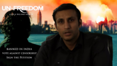 Raj Amit Kumar - Petition against Censorship to reverse ban on Unfreedom Movie