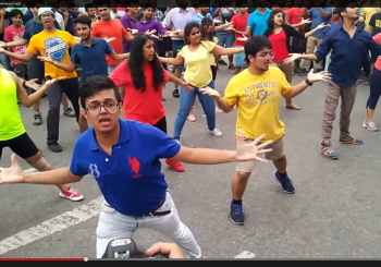 Cannaught Place Delhi first LGBT FlashMob 2015